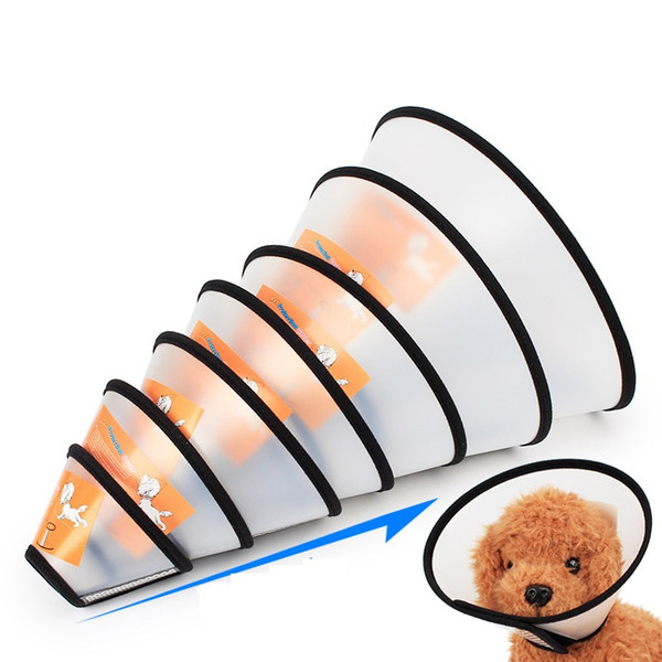 top popular Pet Protective Collar Dog Neck Cone Recovery Cone Collar for Anti - Bite Lick Surgery Wound Healing Cat Dogs Health Medical Circle 2020