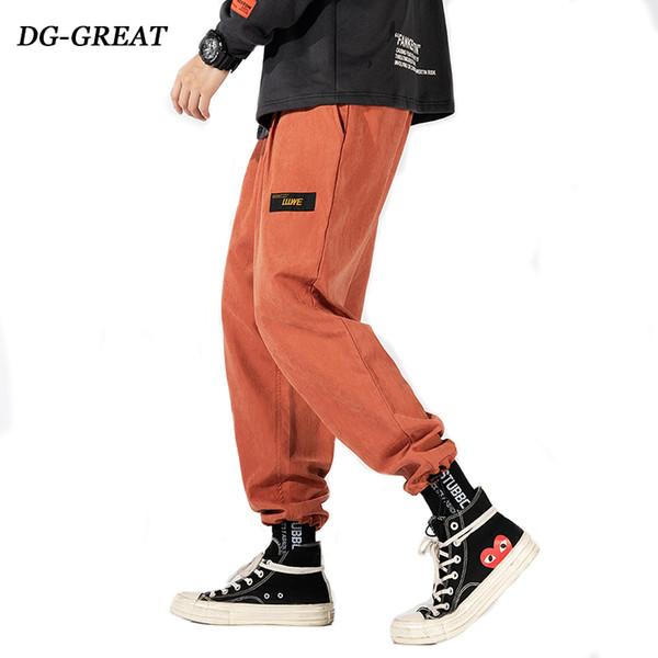 Pantalon cargo hommes populaires Logo Baggy multipoches Corset Leg Small Foot Sport Slacks Pantalons Casual Tide Harajuku Streetwear