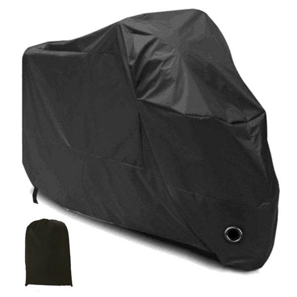 Recién llegado Motocicleta Cubierta impermeable Negro Motocicleta Cubierta Lluvia ventilada UV Polvo Protector Exterior Lluvia L / XL / XXL / XXXL