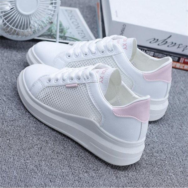 4CM heel Good Quality Cheep Free Shipping Womens Summer Casual Shoes Slip-on Speed Trainer Low Mercurial Black couple shoes Sneakers koo