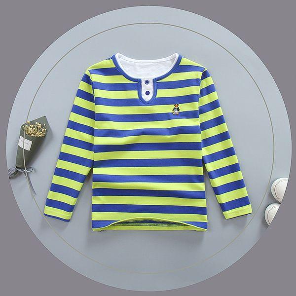 good quality 2019 boys T-shirt spring autumn children cotton striped shirt tops clothing boys kids long sleeve sports tees clothes