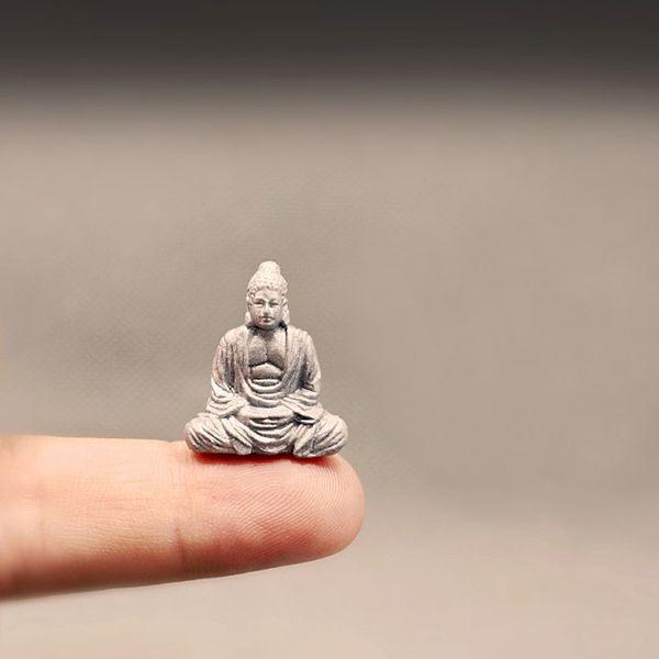 Acheter NOUVEAU ~ Statue De Bouddha / Nain De Jardin Féerique / Terrarium  En Mousse Décor À La Maison / Artisanat / Bonsaï / Jardin De Bouteilles /  ...