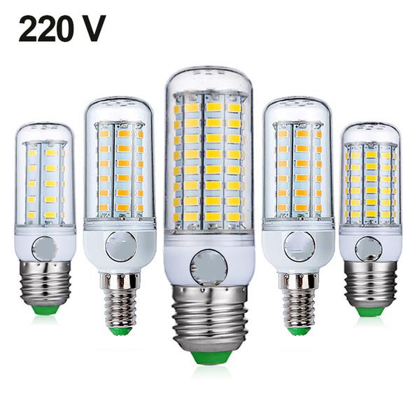 E27 LED Lampe E14 LED Birne SMD5730 220V Maisbirne 24 36 48 56 69 72LEDs Kronleuchter Kerze LED-Licht für Hauptdekoration Ampulle