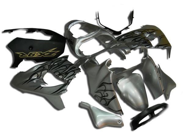 New ABS bike fairings kit for Ninja Kawasaki ZX9R 2000 2001 900cc fairing motorcycle parts ZX-9R ZX 9R 00 01 Custom silver Flame black
