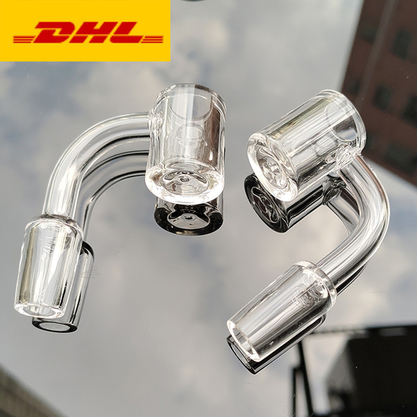 best selling 4mm Thick Quartz banger 10 14 18mm male female with 45 90 degree bevel nail for water glass bong