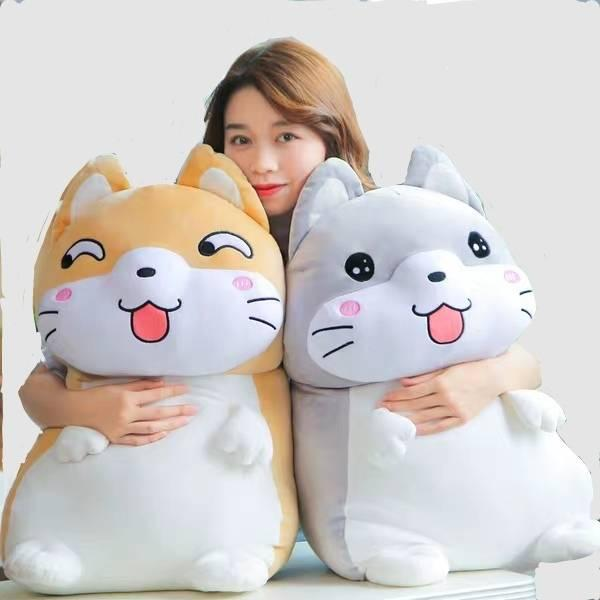 Doll doll cute sleep with a girl to accompany you to sleep with a pillow lazy bed on a plush toy pig doll