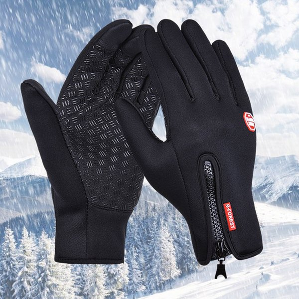 New Cycling Gloves Warm winds touch screen waterproof Bike Bicycle Gloves Riding Gym Finger Gloves Outdoor Sport Shockproof Mittens