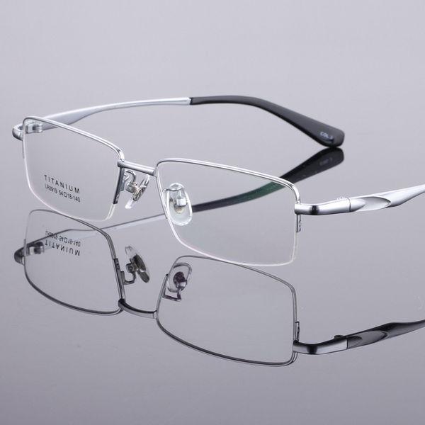 Coyee Nouveau Design 100% Pur Titane Full Rim Marque Lunettes Hommes Optique Spectacle Cadre Oeil Prescription Lunettes Ultralight