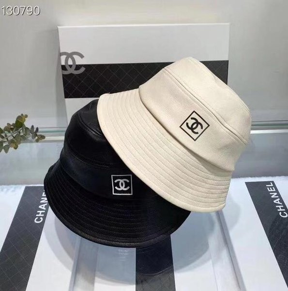 2019 New Fashion Design Classic Solid Leather Fisherman Hat High Quality Female Travel Folding Plaid Small Brimmed Hat Free Of Shipping