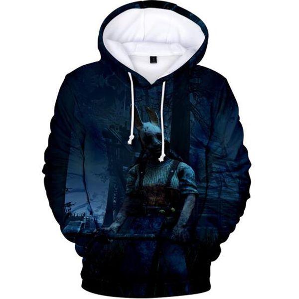 Cool Dead by Daylight 3D Harajuku Streetwear Hoodies Sweatshirt 2019 Nuevas mujeres / hombres Multicolor Trend Casual Hooded Sweatshirt