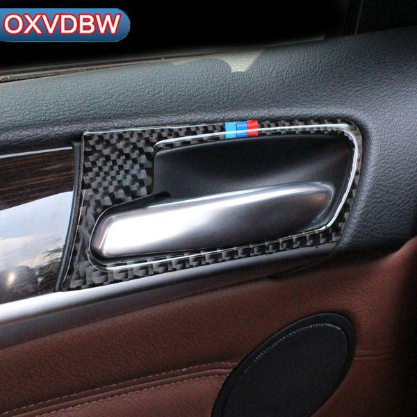 For BMW X5 E70 2008-2013 Carbon Fiber Inner Door Handle Decorative Frame Trim