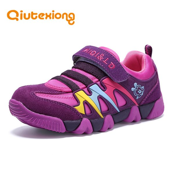 Qiutexiong Enfants En Cuir Véritable Sneaker Filles Garçons Pour Le Sport Scolaire Running Respirant Enfants Chaussures Chaussures MX190726