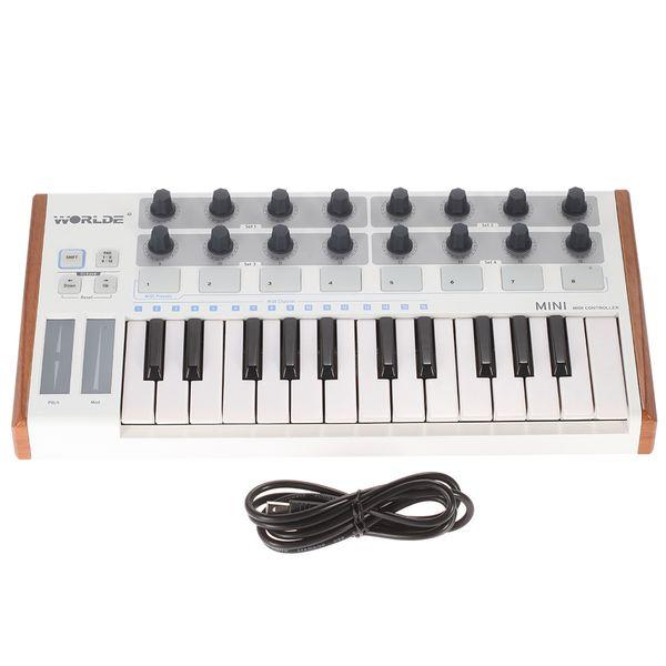 best selling Optional Ultra-Portable Mini Professional 25-Key USB MIDI Drum and Keyboard Controller