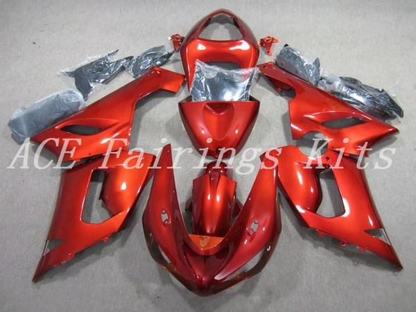 3 Free gifts New ABS motorcycle fairings fit for kawasaki Ninja ZX6R 636 ZX-6R 2005 2006 05 06 bodywork set custom bike fairing glossy red