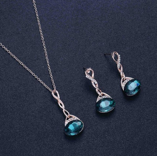 Hot style drop chain earrings set 2019 new fashion clothing accessories set