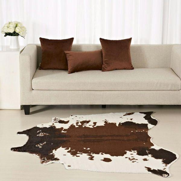 Brown Cowhide Rug Zebra Carpet Creative 150*130 Cm Home Decoration Faux  Skin Mat For Living Room Bedroom Carpets Carpets N Carpets Carpeting  Companies ...