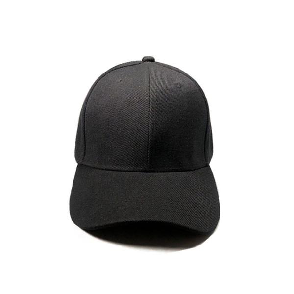 2018 Men Women Baseball Bboy Plain Curved Sun Visor Cap Hat Hip Hop Adjustable Solid Color Fashion Caps Snapback singer