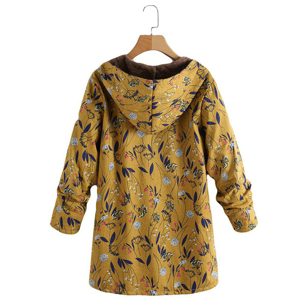 europe and america foreign trade p shoot selling thick composite materials cotton coat printed medium