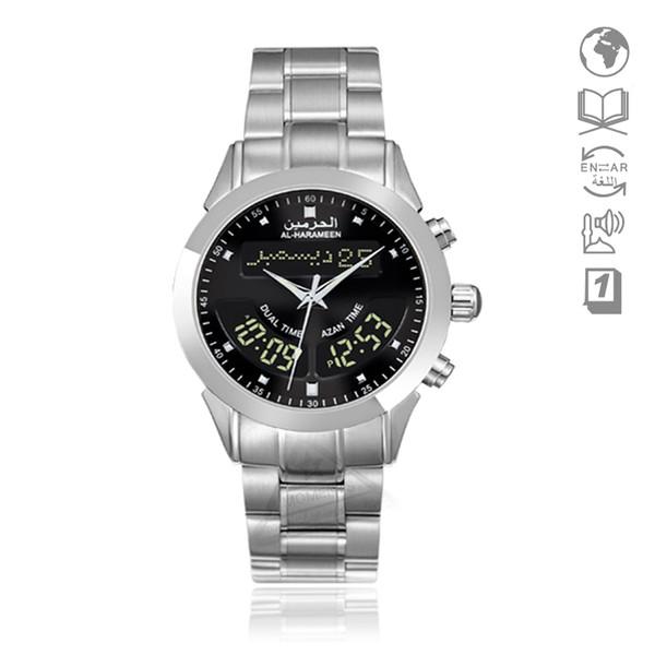 Reloj Islámico con Azan Time Harameen 6102 Reloj Alfajr WA-10 32 mm Reloj Adhan Athan Reloj de pulsera con Corán Bookmark relogio