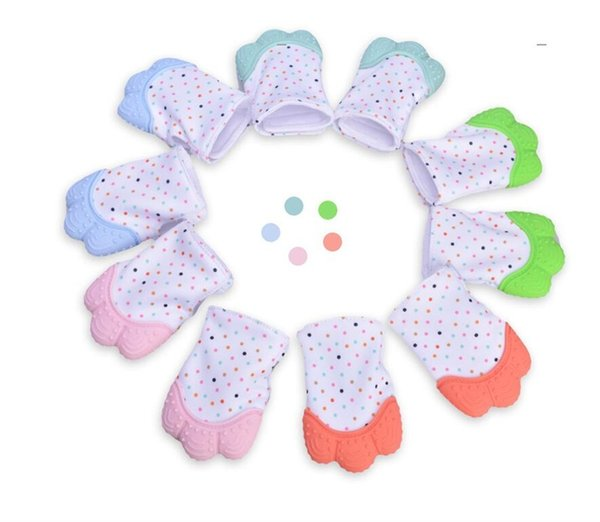 Silicone Teether Baby Pacifier Glove Teething Chewable Newborn Nursing Teether Beads Infant BPA Free Pastel toys for children