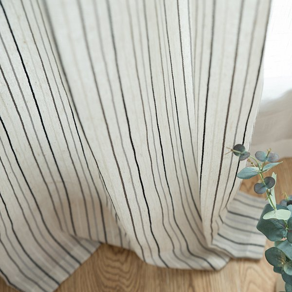 {byetee} Modern Stripped Curtains Fabrics Doors Tulle For Living Room Window Striped Window Bedroom Curtain Yarn Drapes