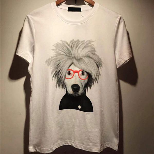 De luxe Hommes Designer T Shirt Hommes Femmes Haute Qualité Drôle Dessin Animé Chien Impression Manches Courtes Hommes Haute Qualité Hip Hop Tees