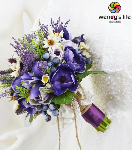 Wedding Bridal Bouquet Bridesmaid Hand Flower Artificial Flower Wedding Decor