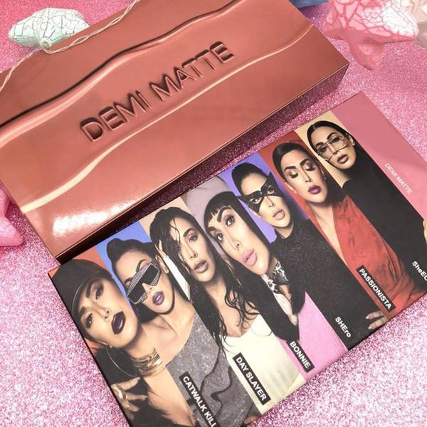 New Lipstick set DEMI MATTE 15 pcs Matte Lip gloss set Rose gold palette shipping free