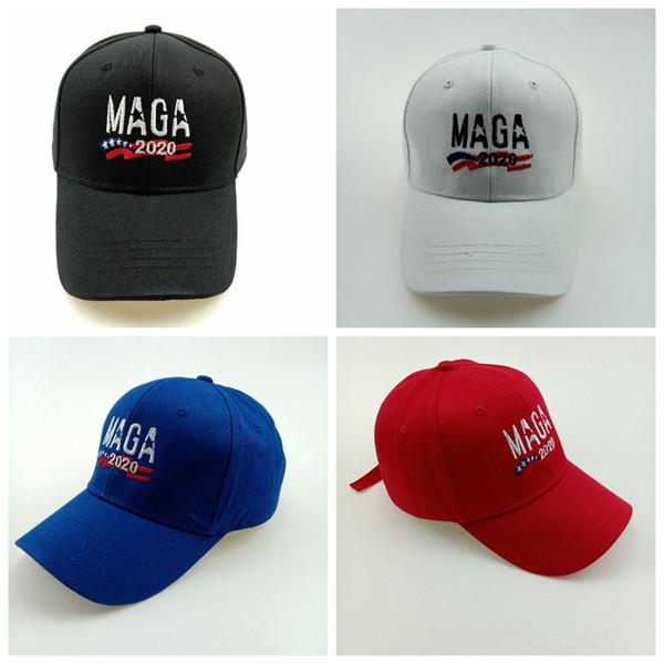 MAGA şapka Erkekler Şapka Nakış 2020 Şapka Donald Trump Şapkalar MAGA Trump Destek Beyzbol Kapaklar Spor Beyzbol Kapaklar MMA2473-8