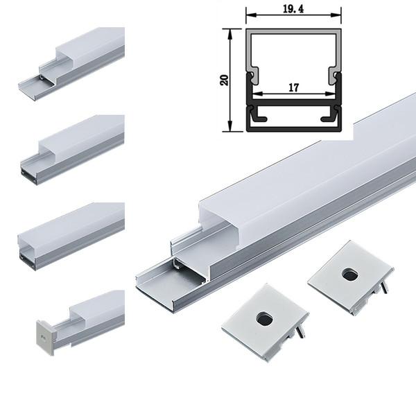 LED Aluminium Profil 6063 LED Extrusion Wandeinbau LED-Lichtleiste und quadratische Kanalleuchte für Deckenleuchte