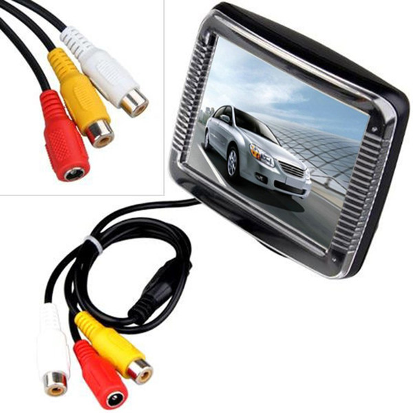 "3.5 Inch Car Rearview Reverse Backup Monitor 3.5"" Mini TFT LCD Car Monitor Display Screen for Backup Rear View Camera DVD"