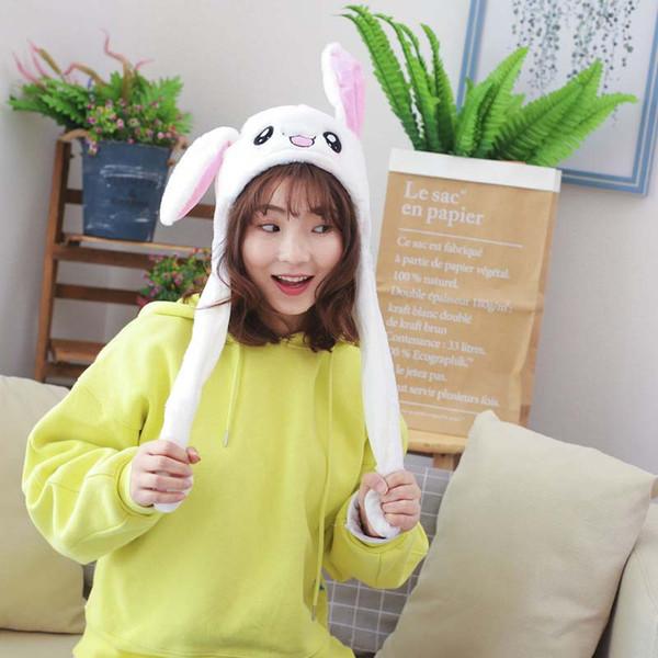 Conejito lindo sombrero de la felpa del oído divertido Playtoy arriba abajo de conejo de juguete de regalo para niñas niños NYZ Novia