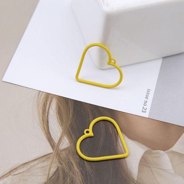 Nuevo de la venta DIY hecho a mano joyería Diamantes Accesorios temperamento amor hueco rectangular Pendientes colgantes 10pcs / lot