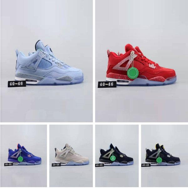 2019 men 4 brand men shoes Military sports blue Alternate 89 Pure Money White Cement Royalty bred Fire Red Black Cat oreo sneakers