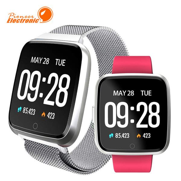 Für apple iphone y7 smart fitness armband sport tracker telefon uhr wasserdicht pulsmesser armband pk fitbit versa