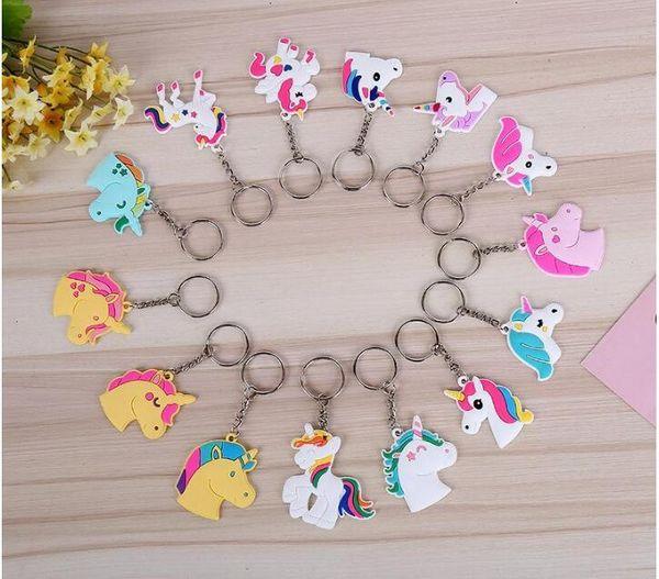 Durable Mini Key Chain For Men And Women Doll Unicorn Keys Buckle Cartoon Unicornio Keychain Hot Sale