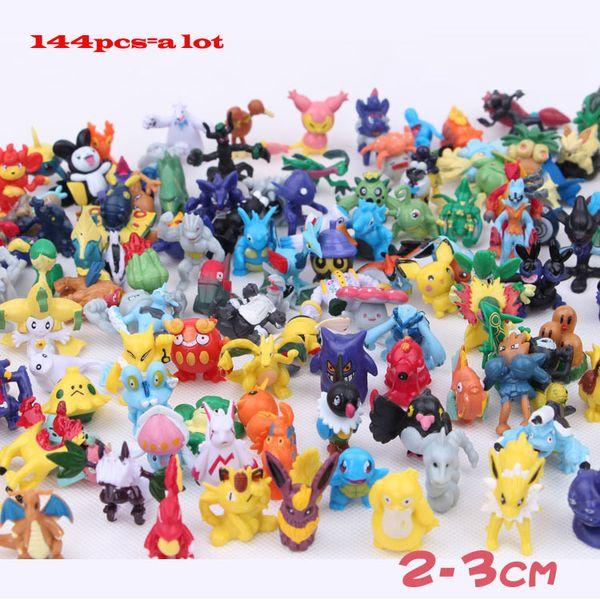 Vendita calda 144Styles Genuino giapponese Pikachu Genius TOMY Pikachu Charmander Bulbasaur Squirtle silice 4CM Action Figure Accessori di moda