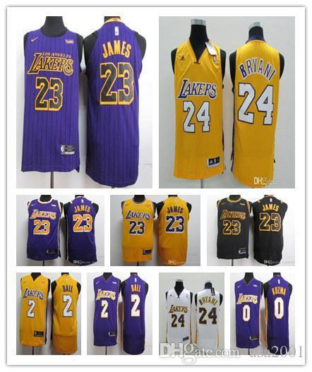 free shipping 7ee2a afcbd 2019 2019 NEW 23 James Jersey Man LBJ Yellow Purple Lonzo Ball Los Angeles  LeBron James Black Kobe Bryant Basketball Jerseys From Cam1989, $16.92 | ...
