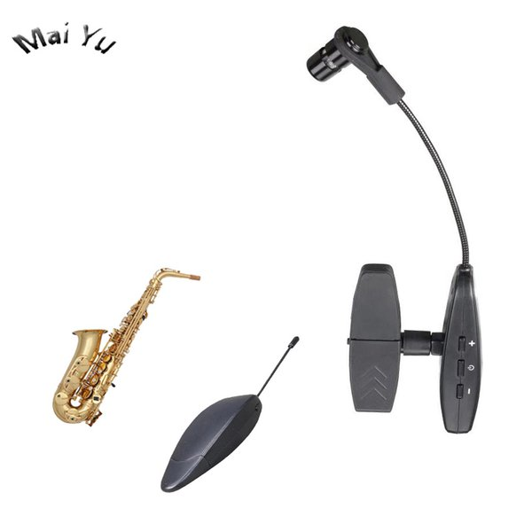 Pro 40m UHF Strumento Saxophone Trombone Horn Wireless Microfono a condensatore Microfone 3.5mm 6.35mm Jack per la registrazione musicale