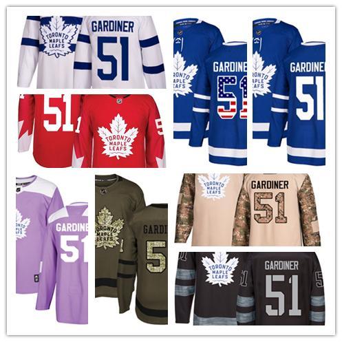 Toronto Maple Leafs jerseys #51 Jake Gardiner jersey ice hockey men women blue white red Authentic winter classic Stiched gears Jersey