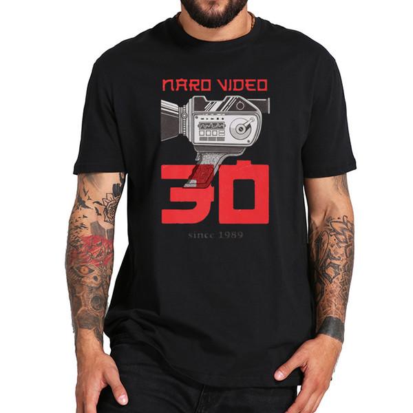 AB Boyutu 100% Pamuk T Gömlek Naro Video 1989'dan Beri T Gömlek Retro Ve Modern Kamera Grafik Siyah