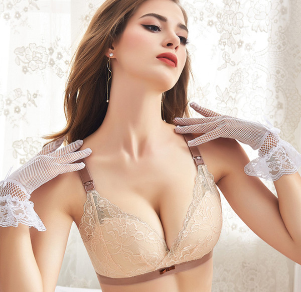 Cotton Lining Nursing Bras For Women Lady Plus Size Wireless Lingerie Bras Free Shipping Hand Free Maternity Bra