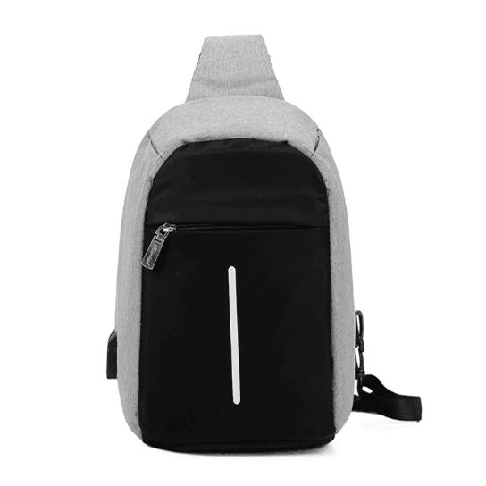 5 Colors New Anti-theft Chest Bags Male Fashion Trend Messenger Bag USB Charging Shoulder Ladies Bag Small Backpack Chest Bag