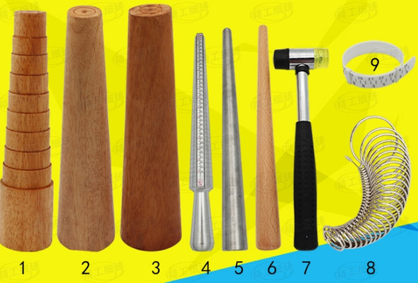 top popular mix 9kinds jewelry tools @ equipment Ring mouth measurement bracelet deformation repair rod 2021