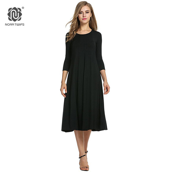 2019 2018 Women Cotton And Linen Vintage Dress Casual Loose Solid Long  Draped Dresses Plus Size 2xl 3xl Large Size Party Dresses Y19052703 From ...