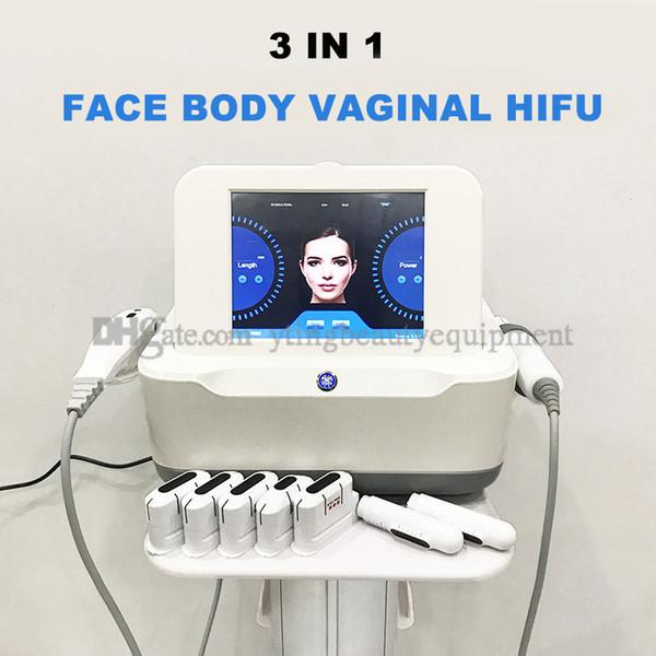 HIFU vaginale de serrage Beauté Rajeunissement machine 3 en 1 HIFU Lifting Visage peau Serrer Amincissant à haute intensité Ultrasons Focalisés