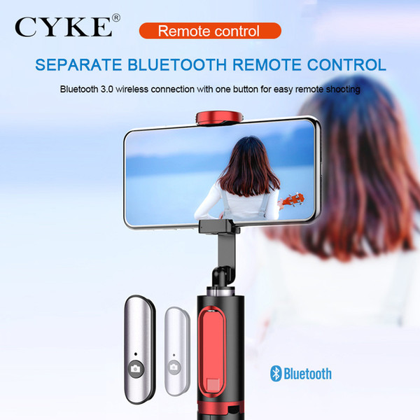 CYKE 2019 hot sell foldable 360 rotating bluetooth selfie stick tripod design for mobile phone For phone