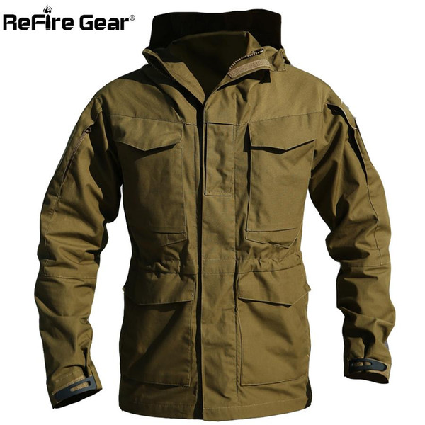 M65 UK US Army Clothes Casual Tactical Windbreaker Men Winter Autumn Waterproof Flight Pilot Coat Hoodie Military Field Jacket Y191107