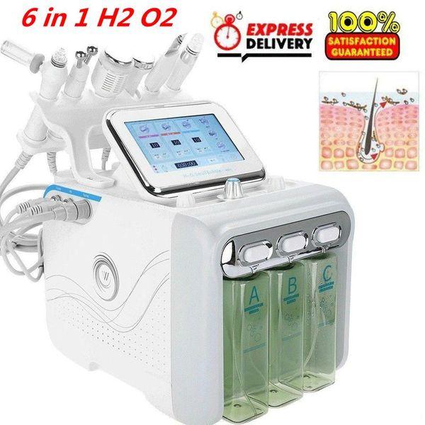 top popular Multifunctional 6 in 1 H2 O2 Hydra Facial Dermabrasion Hydro Microdermabrasion Aqua Peeling Vacuum Skin Cleaning Water Oxygen Spray S 2020