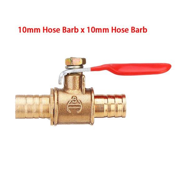 Luft Gas Kraftstoffleitung AB 6mm Schlauch Barb Inline Messing Wasser